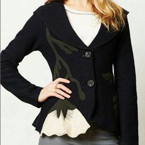 Rosie Neira Anthro Moon Flower Blazer Jacket